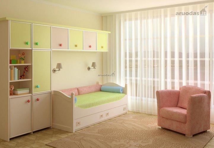 Erdvę taupanti vaiko kambario konstrukcija