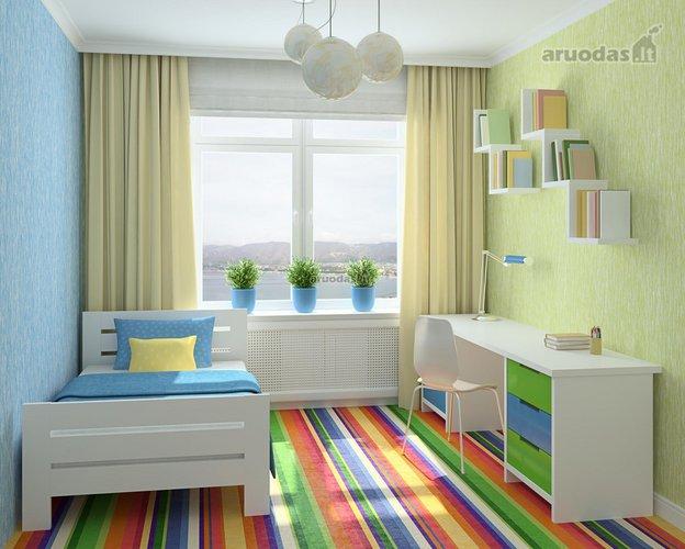 Ryškus ir spalvotas vaiko kambario dizainas