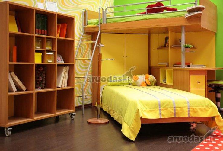 Vietą taupantis vaikų kambarys