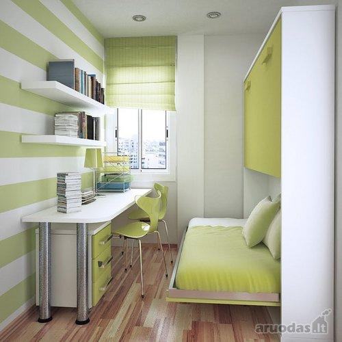 Labai nedidelės erdvės vaiko kambarys