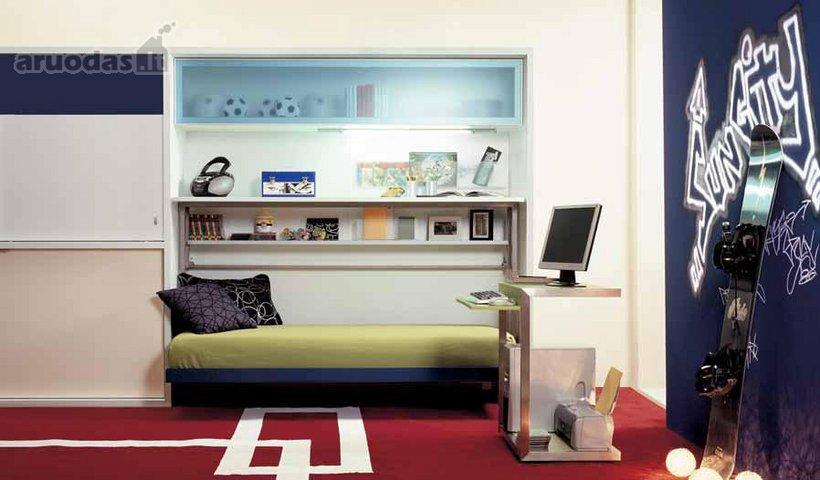 Laisvo stiliaus paauglio kambarys