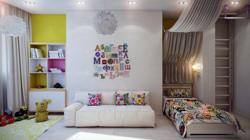 Originaliai dekoruotas paauglės kambarys