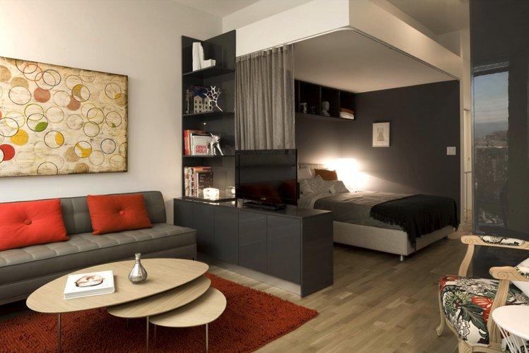 Vieno kambario buto išplanavimas