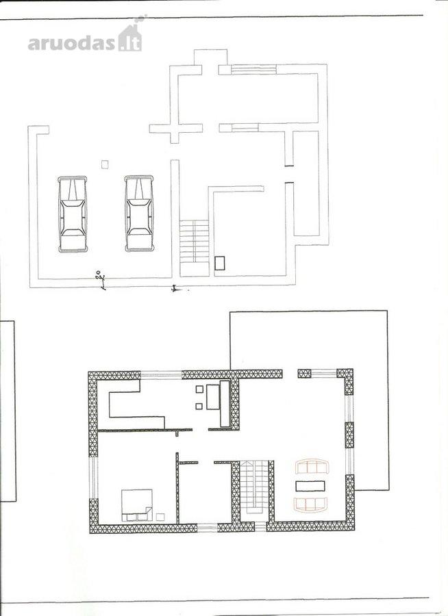 Parduodu nebaigtą statyti namą. 5 kambariai,