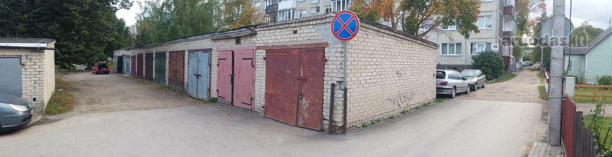 Radviliškio r. sav., Radviliškio m., Žalioji g., mūrinis garažas