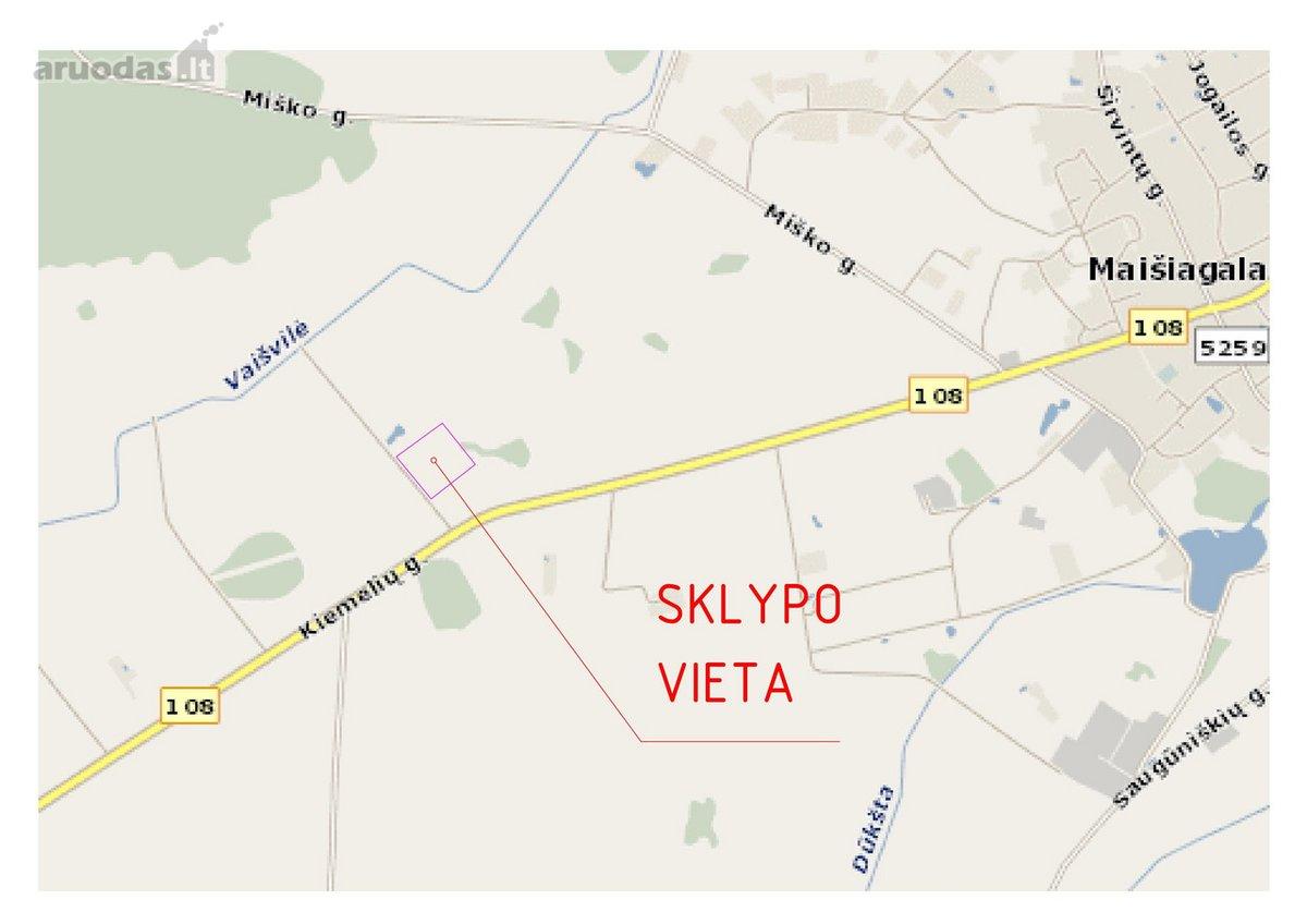 Vilniaus r. sav., Maišiagalos mstl., žemės ūkio paskirties sklypas