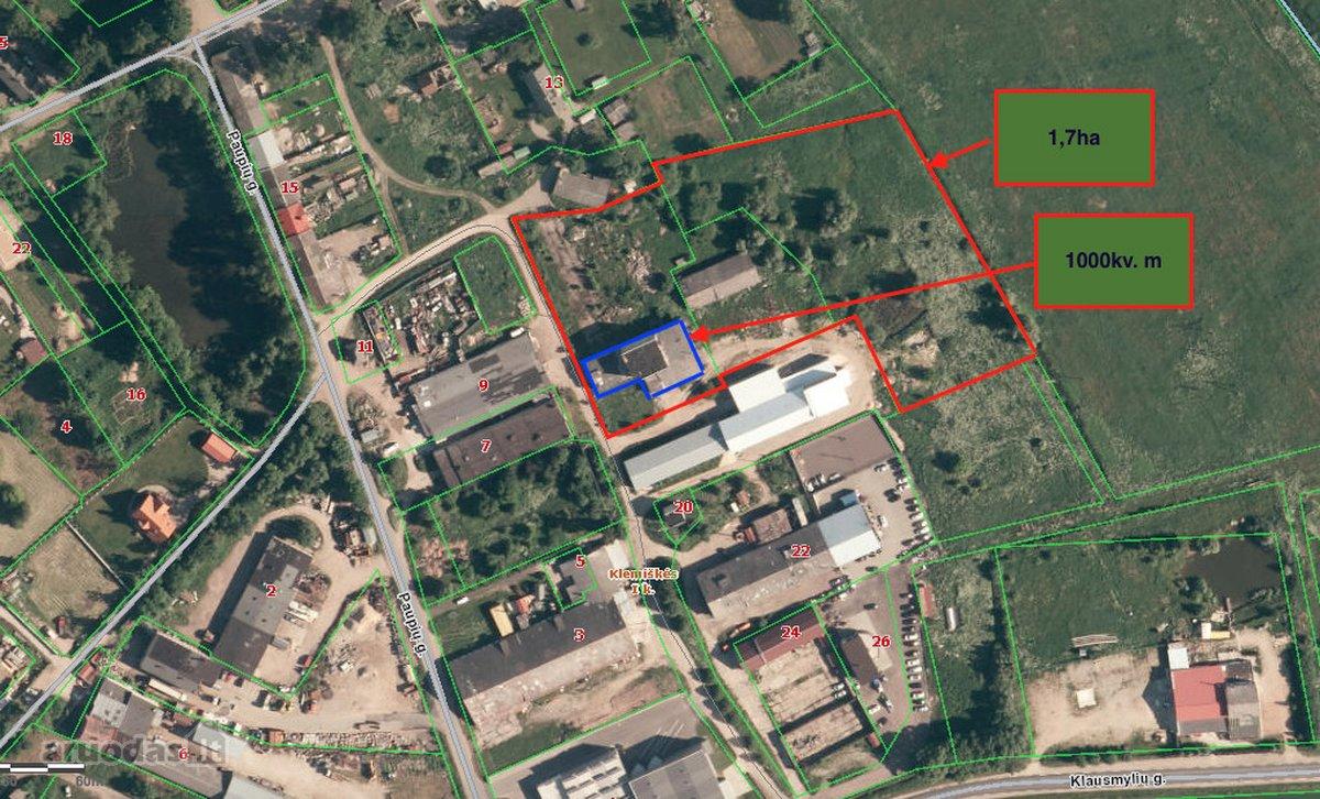 Klaipėdos r. sav., Klemiškės II k., sandėliavimo, gamybinės, kita paskirties patalpos nuomai