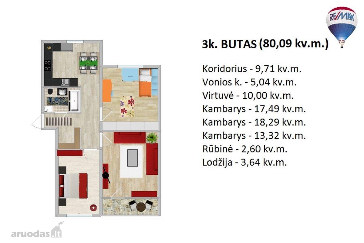 Parduodami Nauji 1, 2, 3, 4 K. Butai