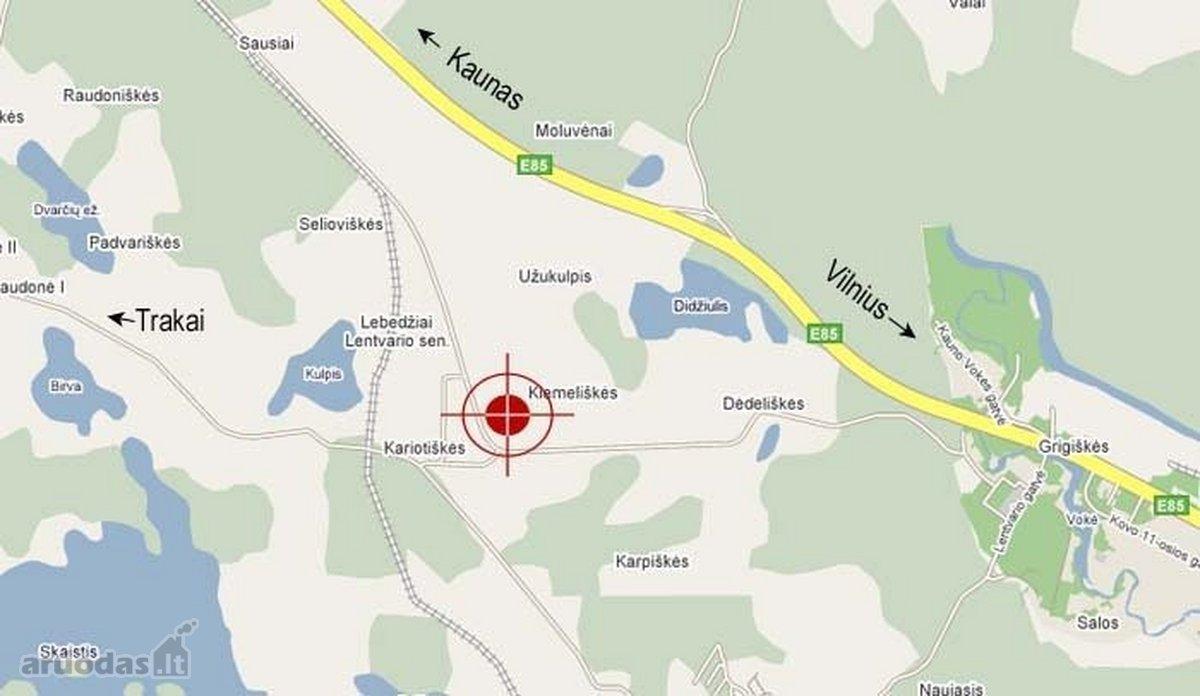 Trakų r. sav., Kiemeliškių k., namų valdos paskirties sklypas