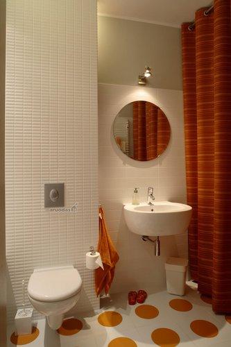 Vonios kambario akcentas - apvalios formos