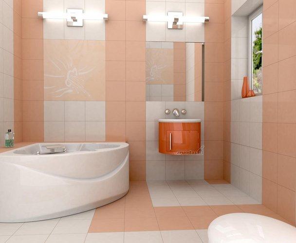 Modernus vonios kambaro interjeras