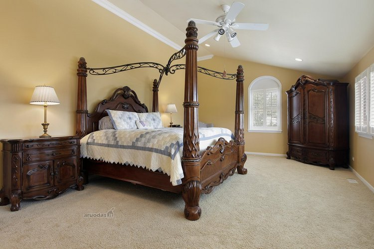 Išskirtinio dizaino miegamojo lova
