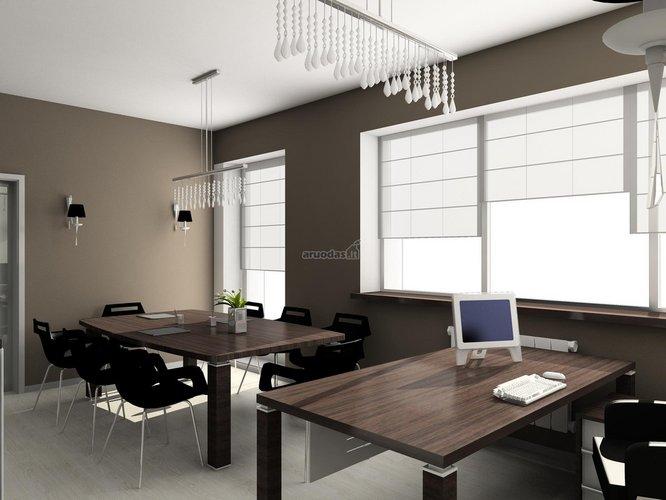 Skandinaviško stiliaus biuro dizainas