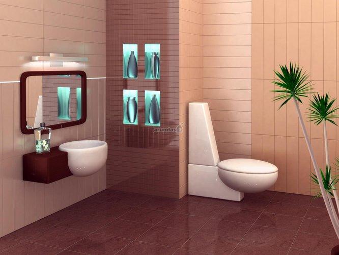Futuristinio stiliaus vonios kambario dizainas