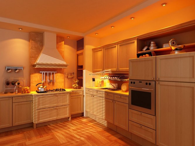 Originalus virtuvės apšvietimas