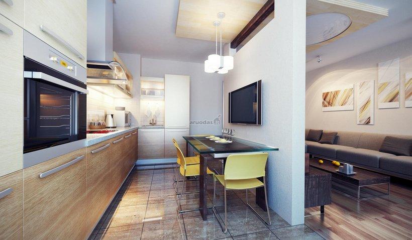 Nedidelės, jaukios virtuvės interjeras