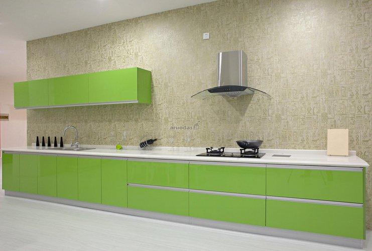 Pailgos virtuvės interjeras