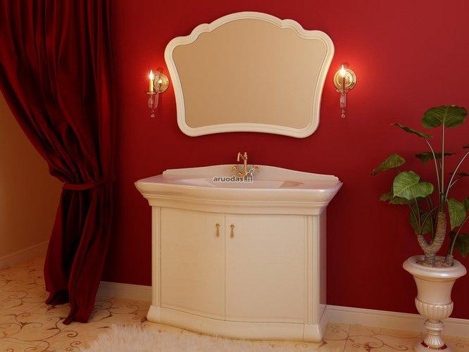 Raudonos vonios kambario sienos