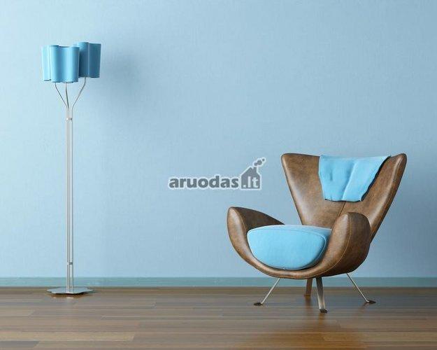 Mėlynas kambario interjeras