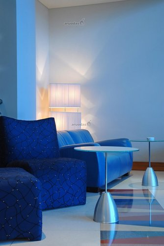 Mėlyno kambario interjeras