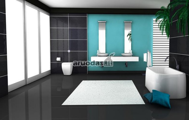 Juoda - mėlyna - balta vonia