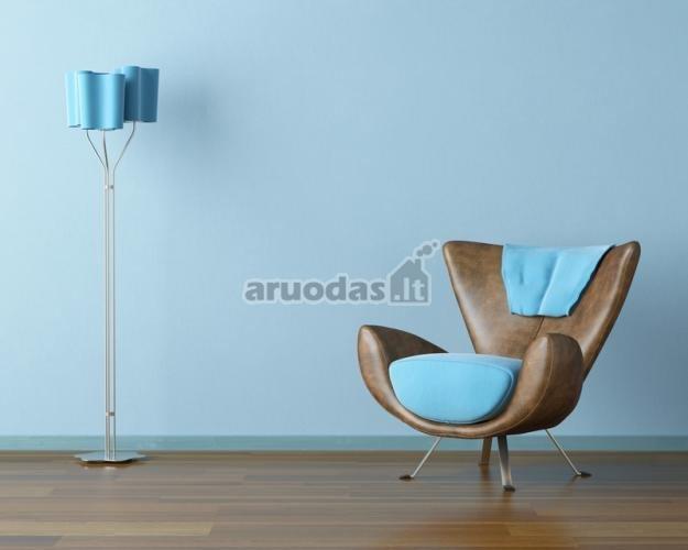 Mėlynas kambario akcentas