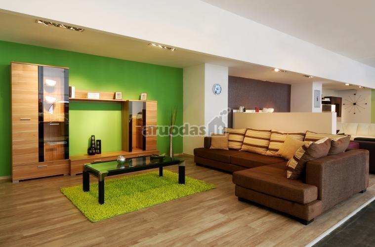 žalia kambario erdvė