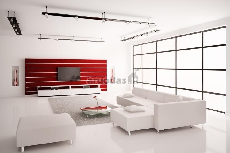 Balto interjero akcentas - raudonas intarpas