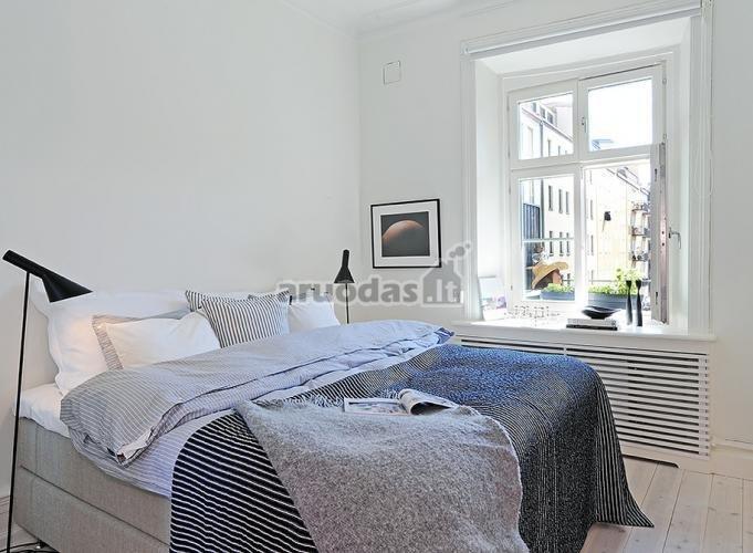 Skandinaviško stiliaus, baltas miegamasis