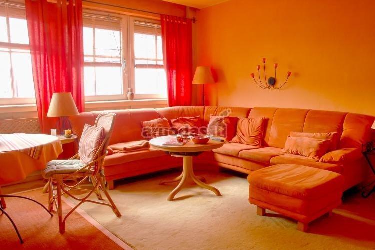 Visiškai oranžinis interjeras