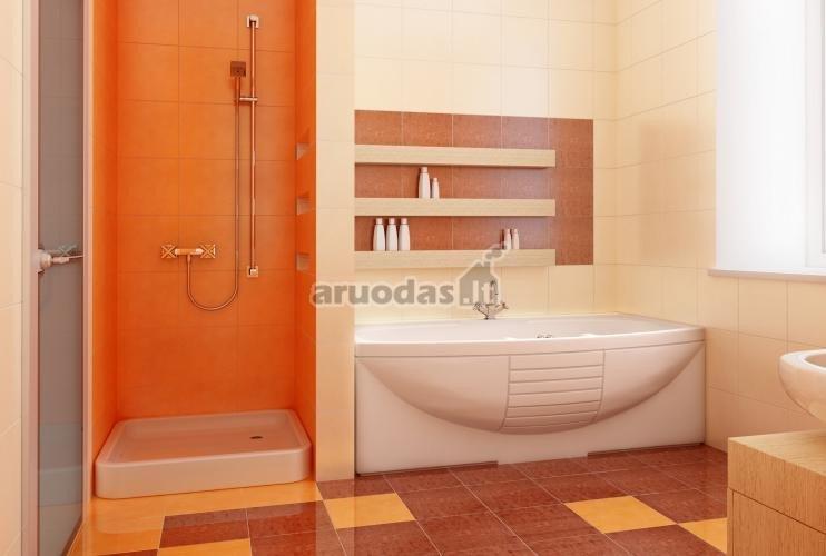 Oranžinė vonios kambaryje