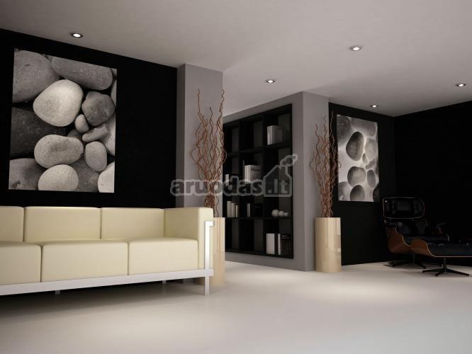 Pilkos ir juodos kontrastas sienose