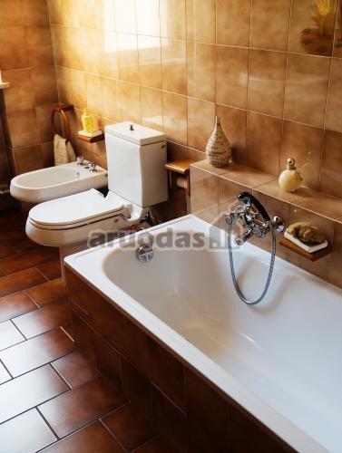 Ruda - balta vonios kambarys
