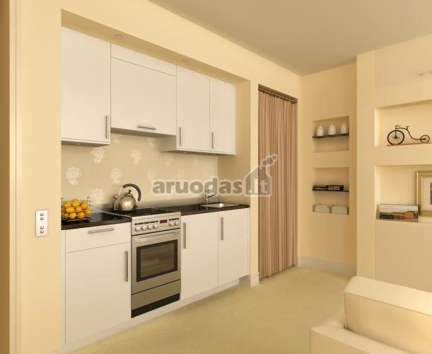 Kreminės ir baltos derinys virtuvėje