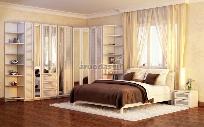 Rudų atspalvių miegamojo dizainas