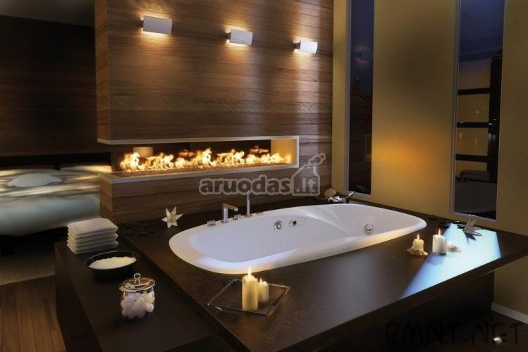 Medinis vonios kambario židinys