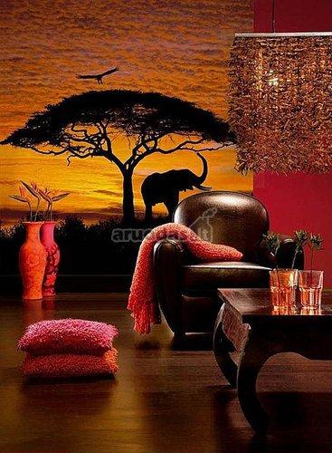 Egzotinis afrikos savanos fototapetas