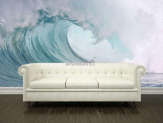 Jūros bangos motyvų fototapetas