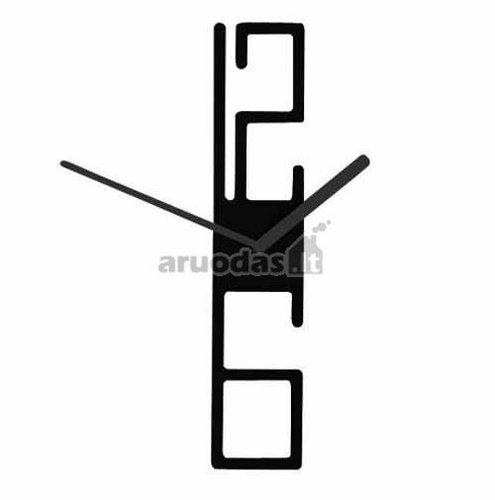Juodas, modernus laikrodis
