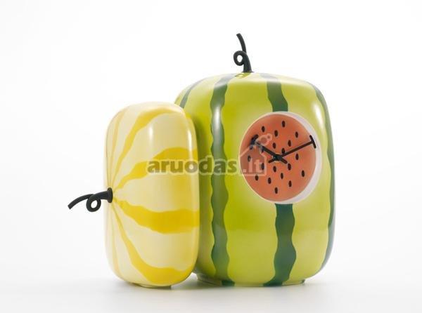 Virtuvinis, arbūzo formos laikrodis