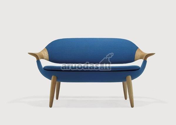 Moderni, mėlynos spalvos sofa