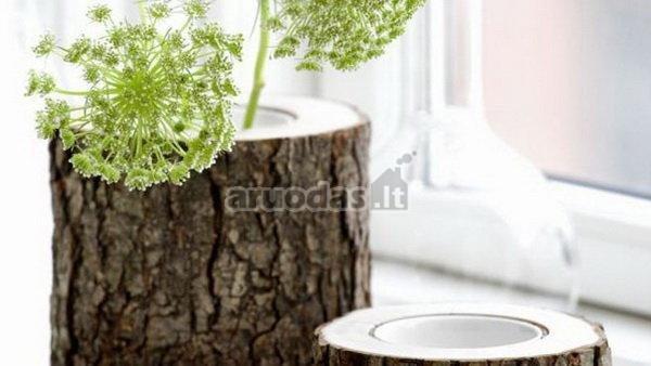 Medžio kelmo formos vazos