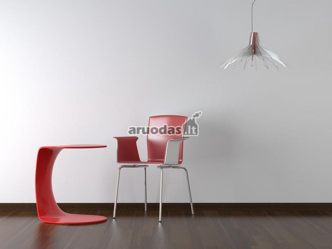 Moderni kompozicija: stalas ir kėdė