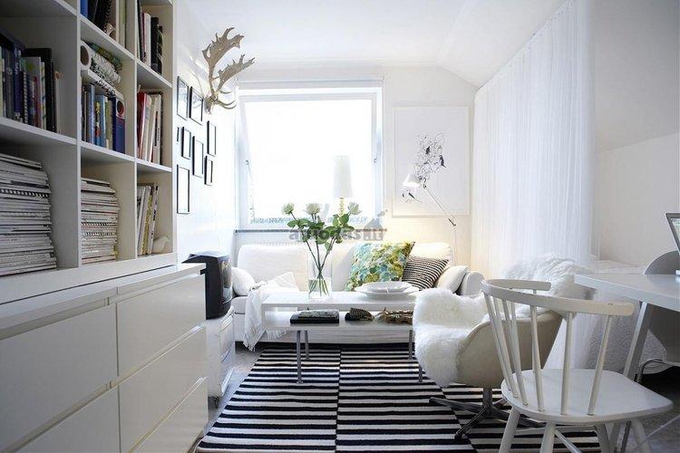 Skandinaviško stiliaus kambario dizainas