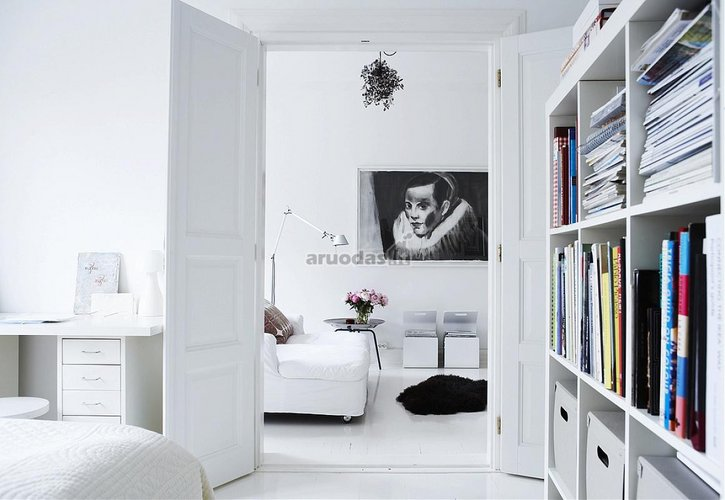 Baltas skandinaviškas stilius