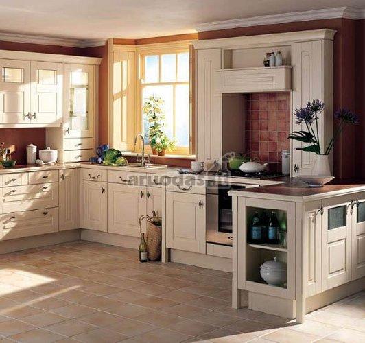 Pastelinių spalvų virtuvė