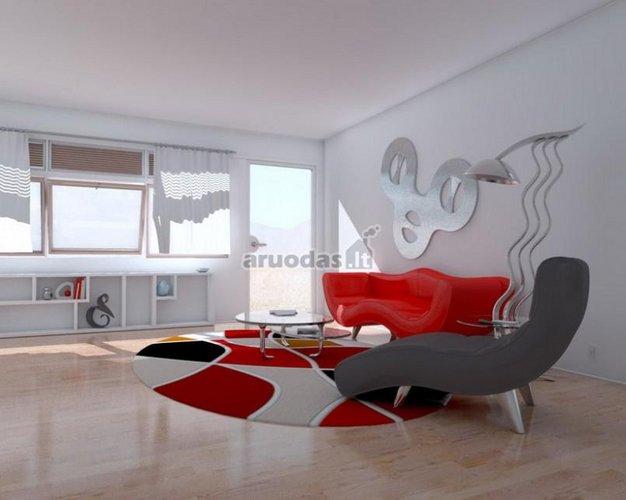 Raudona - balta kilimas