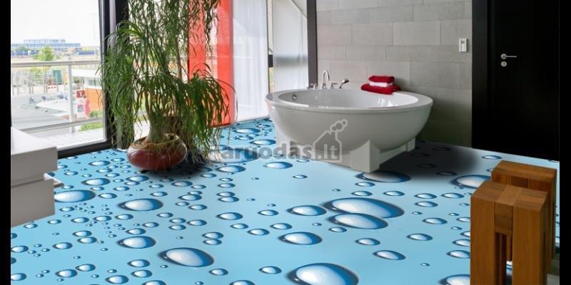 Vinilinės grindys - burbulų jūra