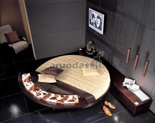 Apvalios formos lova