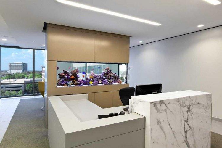 Ofiso interjero detalė - akvariumas